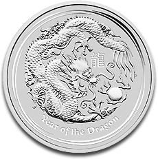 Lunar Dragon 2oz Silver Coin F