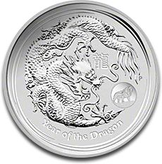 Lunar Dragon Privy Mark 1oz Silver Coin F