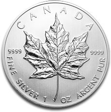 Maple Leaf 1oz Silver Coin 2012 F