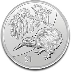 New Zealand Kiwi 1oz Silver Coin F
