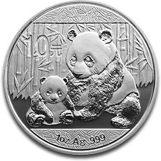 China Panda 1oz Silver Coin 2012 F