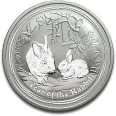 Lunar Rabbit 2oz Silver Coin F