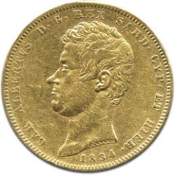 20 Lire Carl Albert Gold Coin F