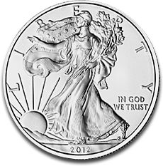 American Eagle 1oz Silver Coin 2012 F