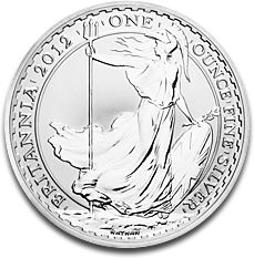 Britannia 2 Pounds 1oz Silver Coin 2012 F