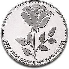 English Rose 1oz Silver Coin 2012 B