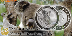 The australian Koala 2015 Silver Bullion Coin